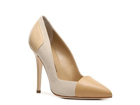 Pantofi Giuseppe Zanotti - Leather & Canvas Pump - Nude