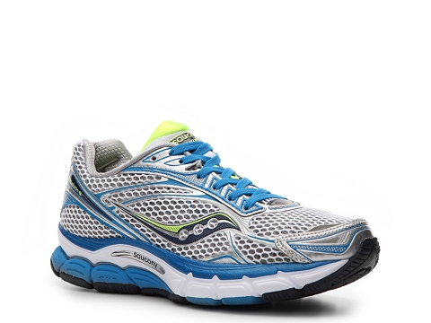 Adidasi Saucony - Triumph 9 Lightweight Running Shoes - Womens - White/Blue/Silver/Lime Green