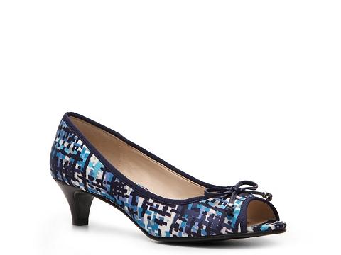 Pantofi Adrienne Vittadini - Concorde Printed Pump - Blue