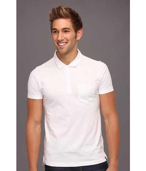 Tricouri Ben Sherman - Antique Garment Dyed S/S Polo Shirt - White
