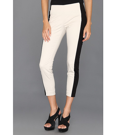 Pantaloni DKNY - Skinny Cropped Flat Front w/ Contrast Side Panel - Stone/Black