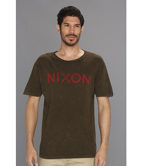 Tricouri Nixon - NXN Tee - Military Green/Red