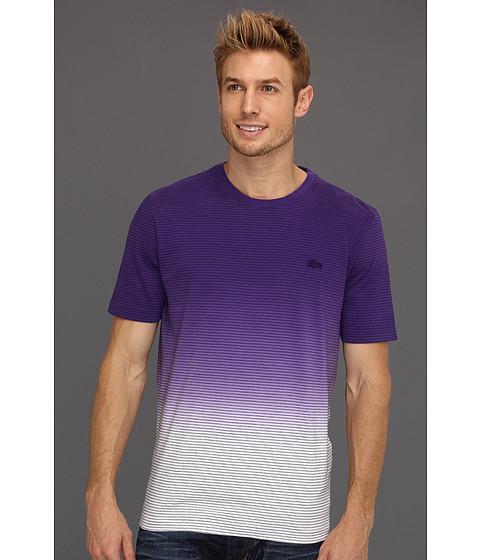 Tricouri Lacoste - L!VE S/S Stripe Dip-Dye T-Shirt - African Violet Purple