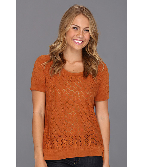 Bluze Lucky Brand - Adrianna Mixed Stitch Sweater Top - Adobe