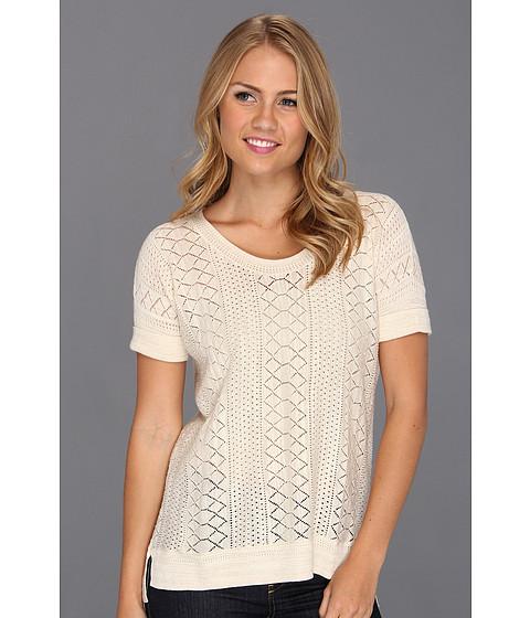 Bluze Lucky Brand - Adrianna Mixed Stitch Sweater Top - Nigori