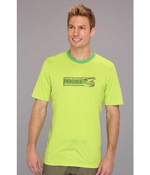 Tricouri Patagonia - Capileneî 1 Silkweight Graphic T-Shirt -  Peppergrass Green