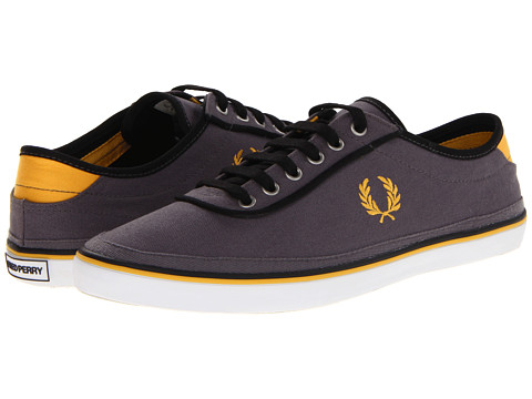 Adidasi Fred Perry - Greaves Canvas - Steel/Canary Yellow/Black