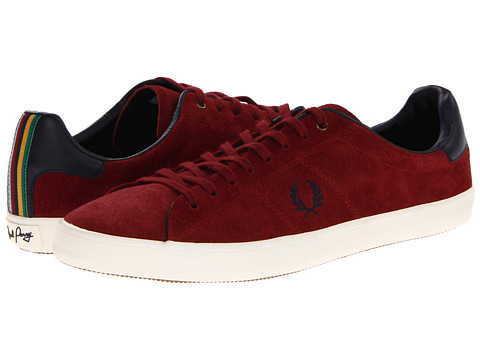 Adidasi Fred Perry - Howells Unlined Suede - Maroon/Navy