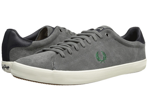 Poza Adidasi Fred Perry - Howells Unlined Suede - Mid Grey/Privet