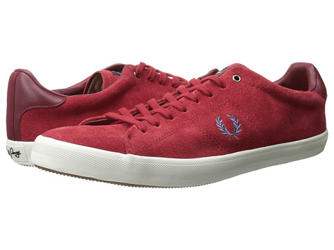 Adidasi Fred Perry - Howells Unlined Suede - Blood/Kingfisher