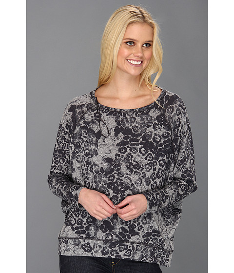 Bluze DKNY - Leopard Print Pullover - Smoke Gray Heather