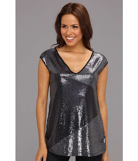 Tricouri DKNY - Printed Sequins Top - Noir