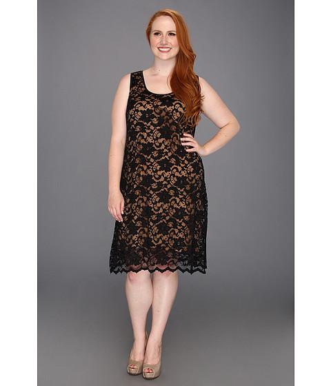 Rochii Karen Kane - Plus Size Larchmont Lace Dress - Black/Nude