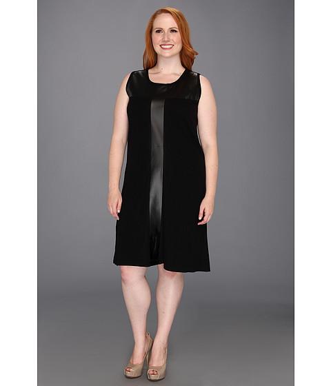 Rochii Karen Kane - Plus Size Leather Inset Sheath - Black