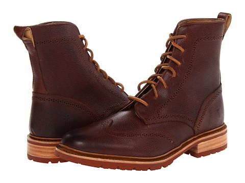 Ghete Frye - James Lug Wingtip Boot - Dark Brown Scotch Grain