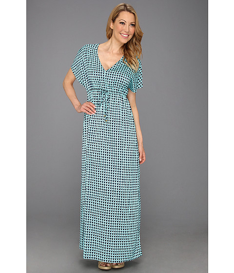 Rochii Michael Kors - Mod Square Long Dress - Washed Turquoise