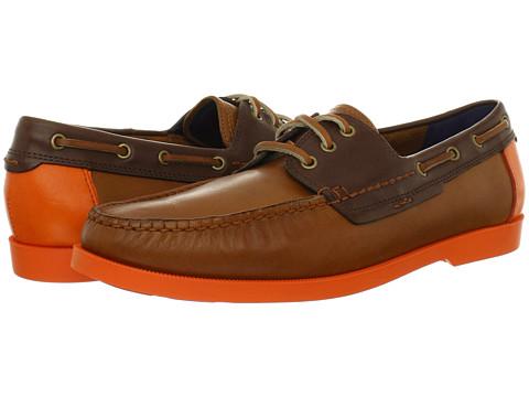 Pantofi Cole Haan - Fire Island Boat - Twill/Chestnut/Corporate Orange