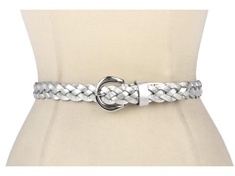 Curele LAUREN Ralph Lauren - Braided Belt with Endbar Buckle - Silver