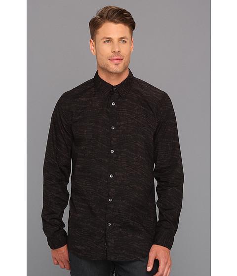 Camasi DKNY - Slim Fit L/S Graphic Print Shirt - Black