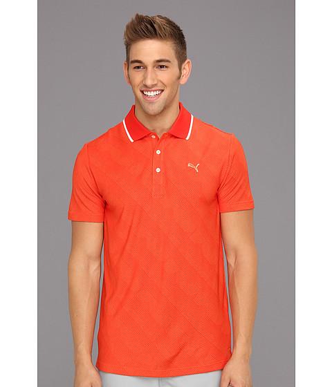Tricouri PUMA - Jacquard Polo - Vibrant Orange/Fiery Red