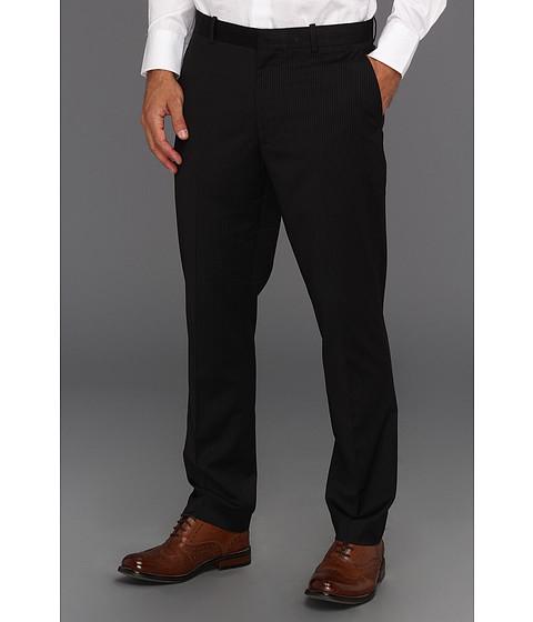 Pantaloni Perry Ellis - Slim Fit Bead Stripe Dress Pant - Black Ice