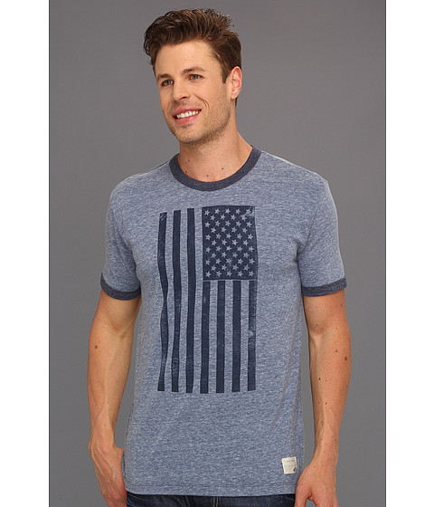 Tricouri Lucky Brand - Americana Flag - Heather Blue