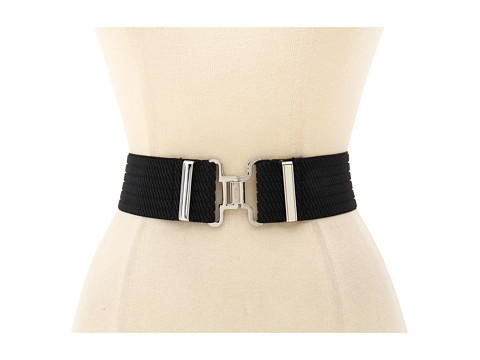 Curele LAUREN Ralph Lauren - Stretch Belt with Interlock Closure - Black