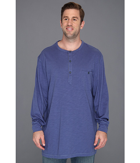 Bluze Nautica - Big & Tall Long Sleeve Solid Packet Henley - Union Blue