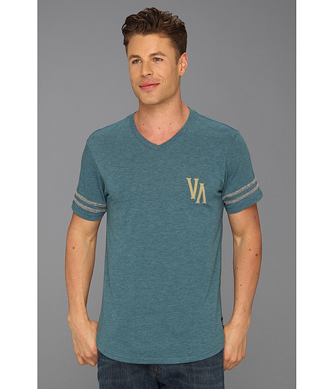 Tricouri RVCA - Buttermaker S/S V-Neck - Dusty Teal