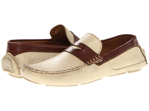 Pantofi Lumiani - Crawford - Off White/Cognac Leather