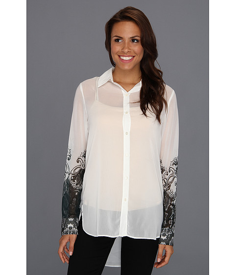 Bluze Kenneth Cole - Terry L/S Printed Top - White Combo