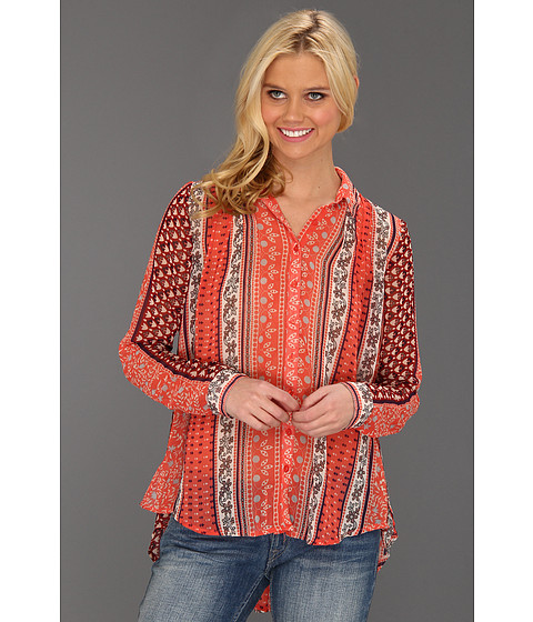 Bluze Free People - Moonlight Mile Top - Hot Coral Combo