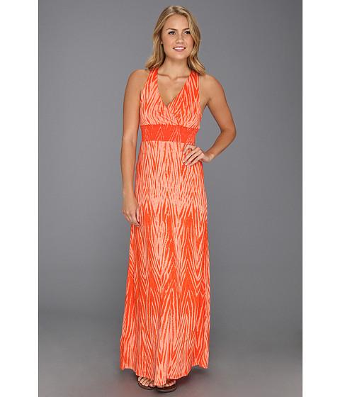 Rochii Lucky Brand - Zebra Halter Maxi Dress - Mandarin Orange Multi