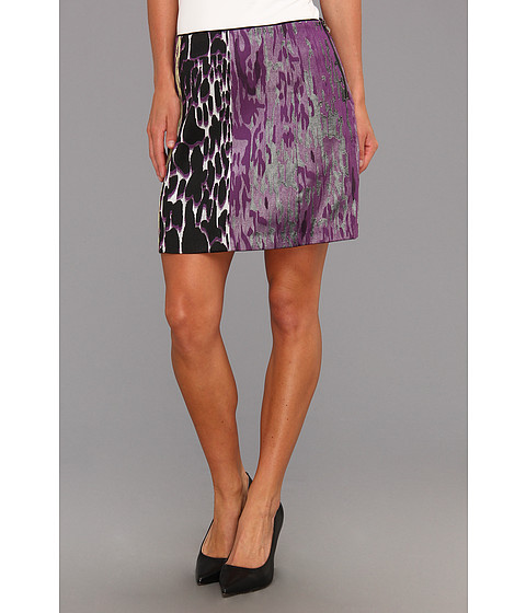 Fuste Kenneth Cole - Juliet Print-Blocked Skirt - Purple Turnip Combo