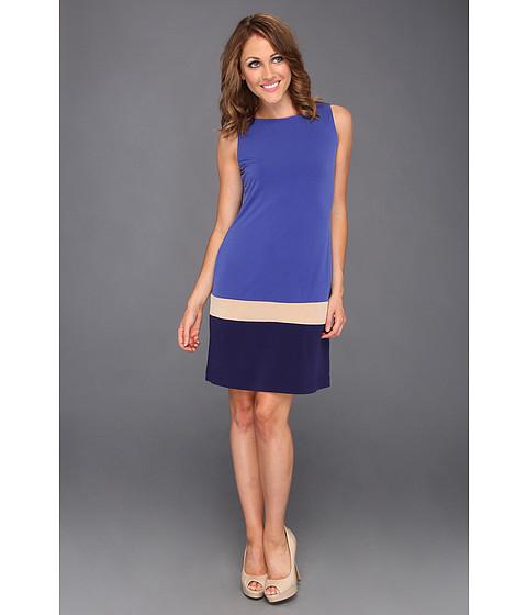 Rochii Donna Morgan - Color-Block Shift Dress - Cobalt/Navy