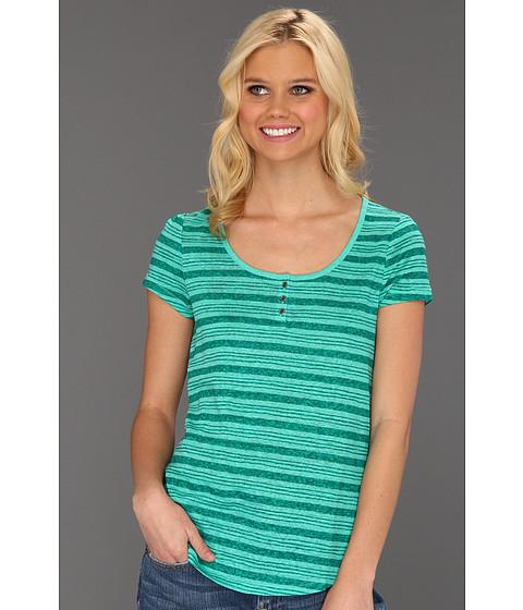 Bluze Lucky Brand - Catarina Stripe Tee - Green Multi