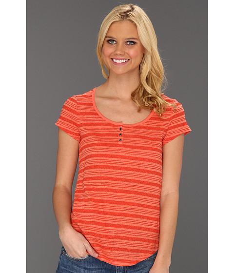 Bluze Lucky Brand - Catarina Stripe Tee - Orange Multi