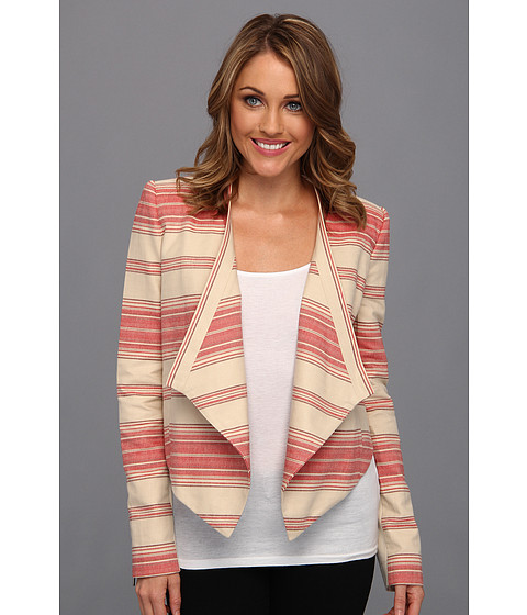 Jachete BCBGMAXAZRIA - Abbey Cropped Relaxed Jacket - Red Multi