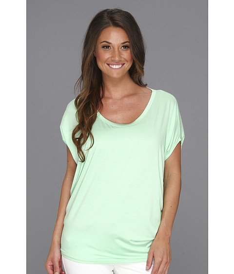 Bluze Culture Phit - Polley Modal Drape Top - Mint