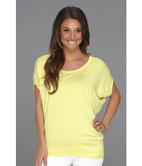 Bluze Culture Phit - Polley Modal Drape Top - Neon Yellow