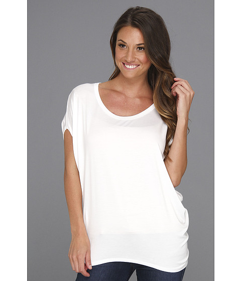Bluze Culture Phit - Polley Modal Drape Top - White