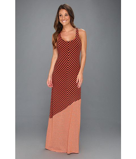 Rochii elegante: Rochie Culture Phit - Leanna Stripe Maxi - Burnt Orange