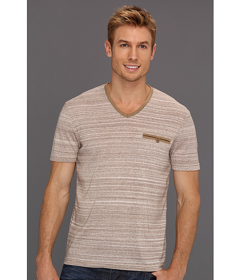 Tricouri Perry Ellis - Space Dye V-Neck Tee - Hammock