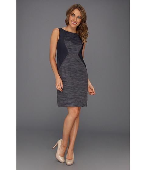 Rochii Donna Morgan - Denim Color Block Bodice Dress - Blue Denim/Blue/Gold