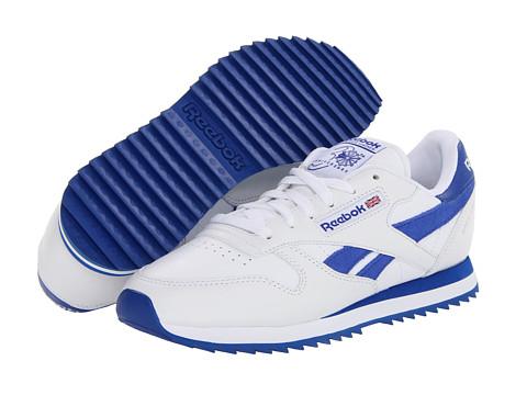 Adidasi Reebok - CL Leather Ripple Suede Stripe - White/Tetra Blue