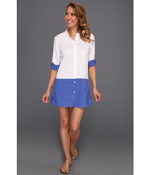 Rochii Tommy Bahama - Linen Boyfriend Shirt With Convertible Sleeves - White
