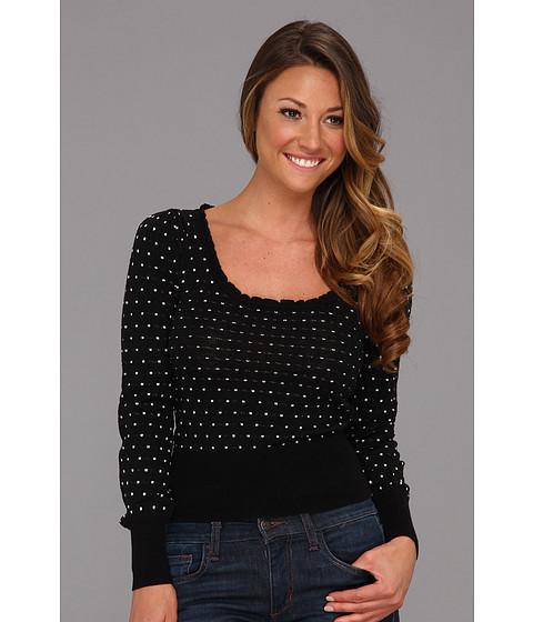 Bluze Free People - Swiss Dotted Sweater - Black/White