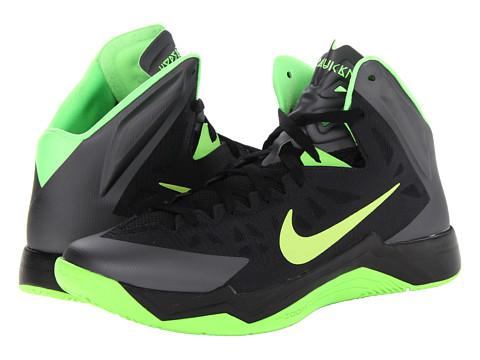 Adidasi Nike - Hyper Quickness - Black/Dark Grey/Flash Lime
