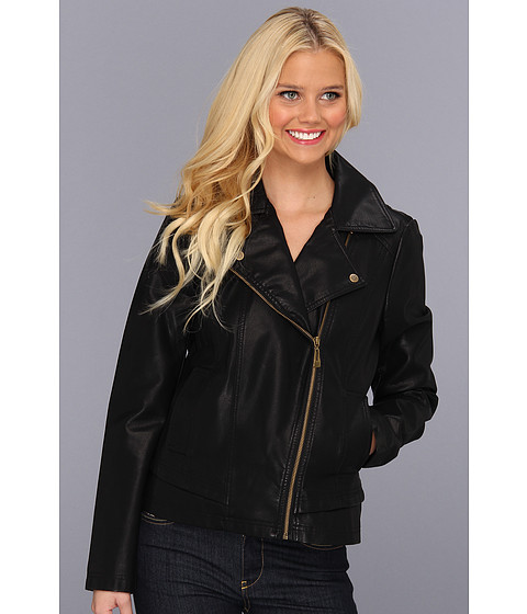 Jachete Jessica Simpson - Asymmetrical Zip Moto Jacket - Black