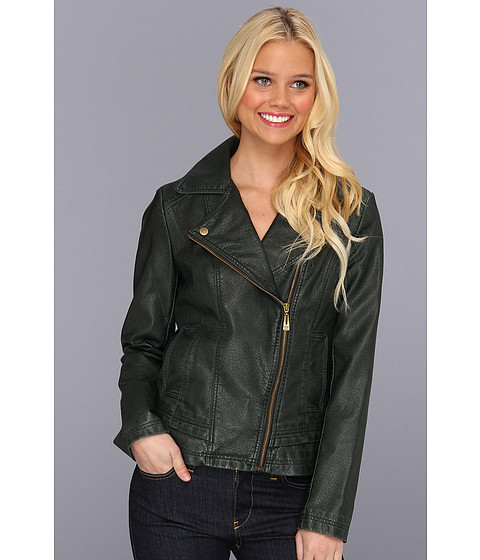 Jachete Jessica Simpson - Asymmetrical Zip Moto Jacket - Hunter